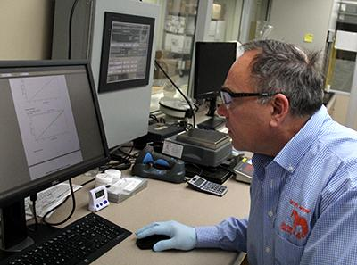 Dr. Scott Gravlee in Lab