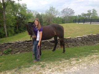 Stephanie with nervous horse